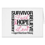 BREAST CANCER Survivors Motto Card