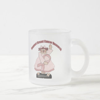 Breast Cancer T-shirts and Gifts For Her Frosted Glass Coffee Mug