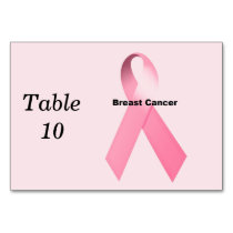 Breast Cancer Table Number