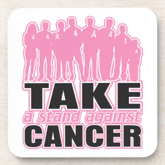 Breast Cancer -Take A Stand Against Cancer Drink Coasters