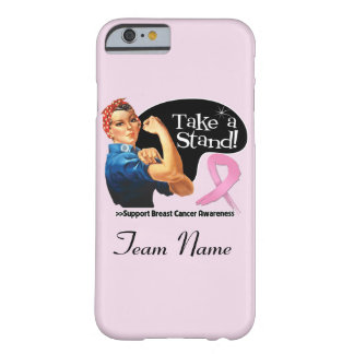 Breast Cancer Take a Stand Team Name iPhone 6 Case