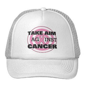 Breast Cancer Take Aim Against Cancer Trucker Hat