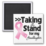 Breast Cancer Taking a Stand For My Granddaughter Fridge Magnets