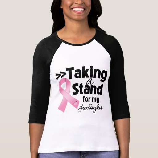 Breast Cancer Taking a Stand For My Granddaughter Tshirt