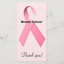 Breast Cancer Thank You Card