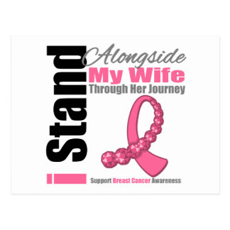 Breast Cancer Through Her Journey Wife Postcard