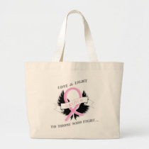 Breast Cancer Tote Survivor Pink Ribbon Womens