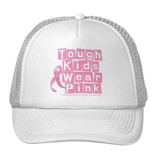 Breast Cancer Tough Kids Wear Pink Mesh Hat