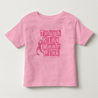 Breast Cancer Tough Kids Wear Pink Toddler T-shirt