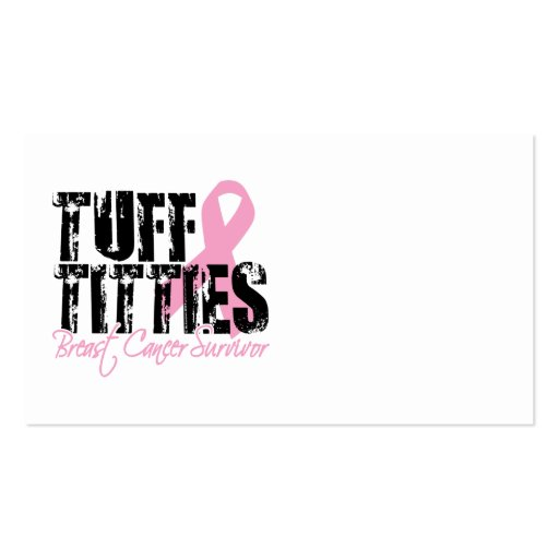 Breast Cancer Tough Titties Business Cards