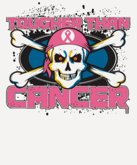 Breast Cancer Tougher Than Cancer Skull T-shirts