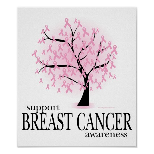 Breast Cancer Tree Poster