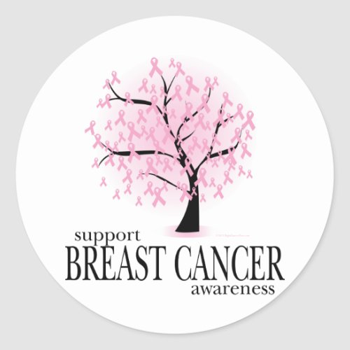 Breast Cancer Tree zazzle_sticker
