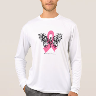 Breast Cancer Tribal Butterfly Ribbon Tshirt