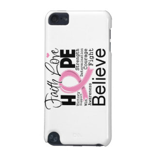 Breast Cancer Typographic Faith Love Hope iPod Touch (5th Generation) Cover