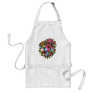 Breast Cancer Ultra Groovy Fight Like A Girl Apron
