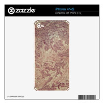 Breast cancer under the microscope decals for iPhone 4S