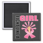 Breast Cancer Victory Fight Like A Girl Refrigerator Magnets