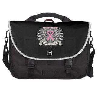 Breast Cancer Victory Laptop Messenger Bag
