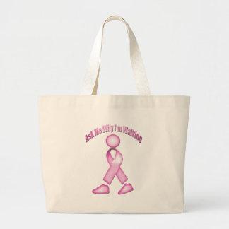 Breast Cancer Walk Canvas Bag
