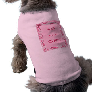 Breast Cancer - Walk For A Cure Dog Tee Shirt