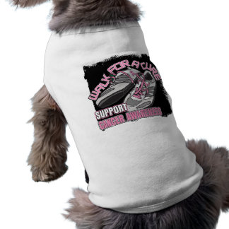 Breast Cancer Walk For A Cure Shoes Dog Shirt