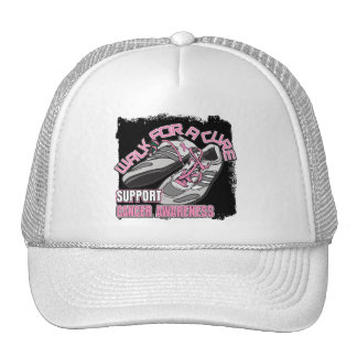 Breast Cancer Walk For A Cure Shoes Hat
