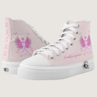 Breast Cancer Walk High-Top Sneakers