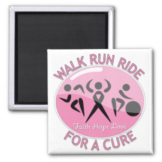 Breast Cancer Walk Run Ride For A Cure Fridge Magnet