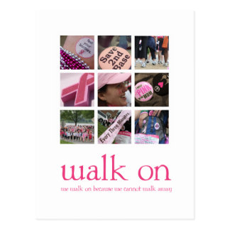 Breast Cancer Walk Thank You Post Card