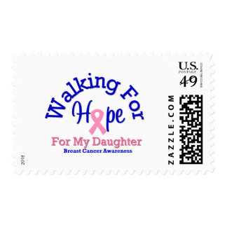 Breast Cancer Walking For Hope For My Daughter Postage Stamps