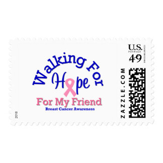 Breast Cancer Walking For Hope For My Friend Postage