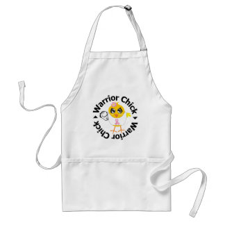 Breast Cancer Warrior Chick Adult Apron