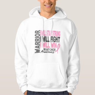 Breast Cancer Warrior Hooded Sweatshirts