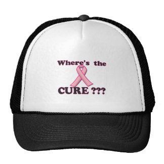 Breast Cancer:  Where's the CURE? Hat