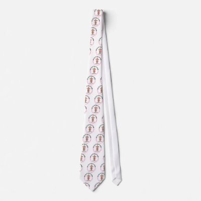 Breast Cancer WITH GOD CROSS 1 Necktie
