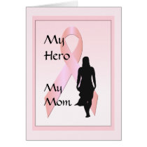 Breast Cancer Woman Hero Mom Greeting Card