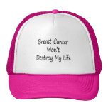 Breast Cancer Won't Destroy My Life Mesh Hats