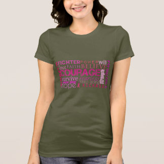 Breast Cancer Word Cloud ($29.95) T-Shirt