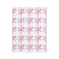 Breast Cancers Awareness Ribbons Chemo Blanket