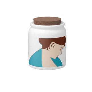 breast feeding mom rocks candy jar