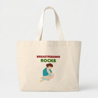breast feeding mom rocks large tote bag
