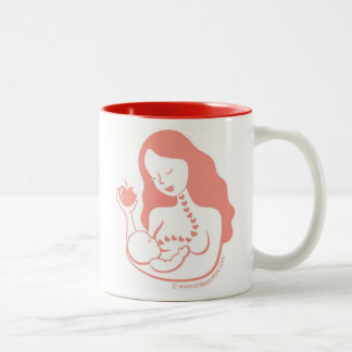 Breast Feeding Mother and Baby Coffee Mugs