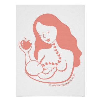 Breast Feeding Mother and Child Poster
