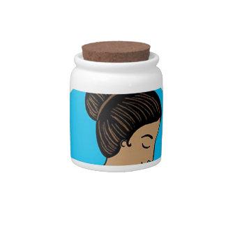 breast feeding Mother rocks Candy Jar