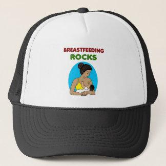 breast feeding Mother rocks Trucker Hat