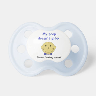Breast Feeding Rocks baby boy blue pacifier