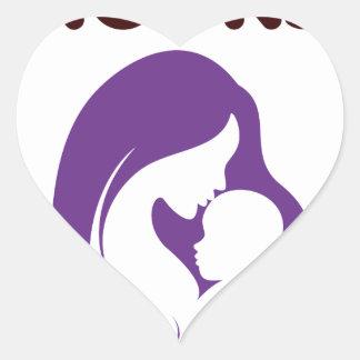 breast feeding rocks heart sticker