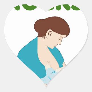 breast feeding rocks, mother, baby milks feed gift heart sticker