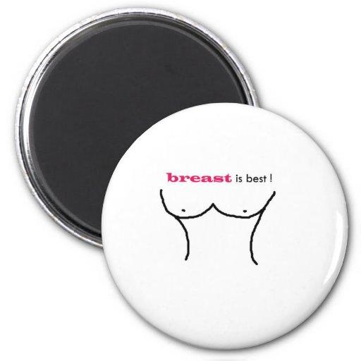 breast is best fridge magnet